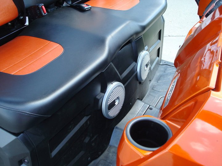 Alpine Marine Speakers mounted below the seat