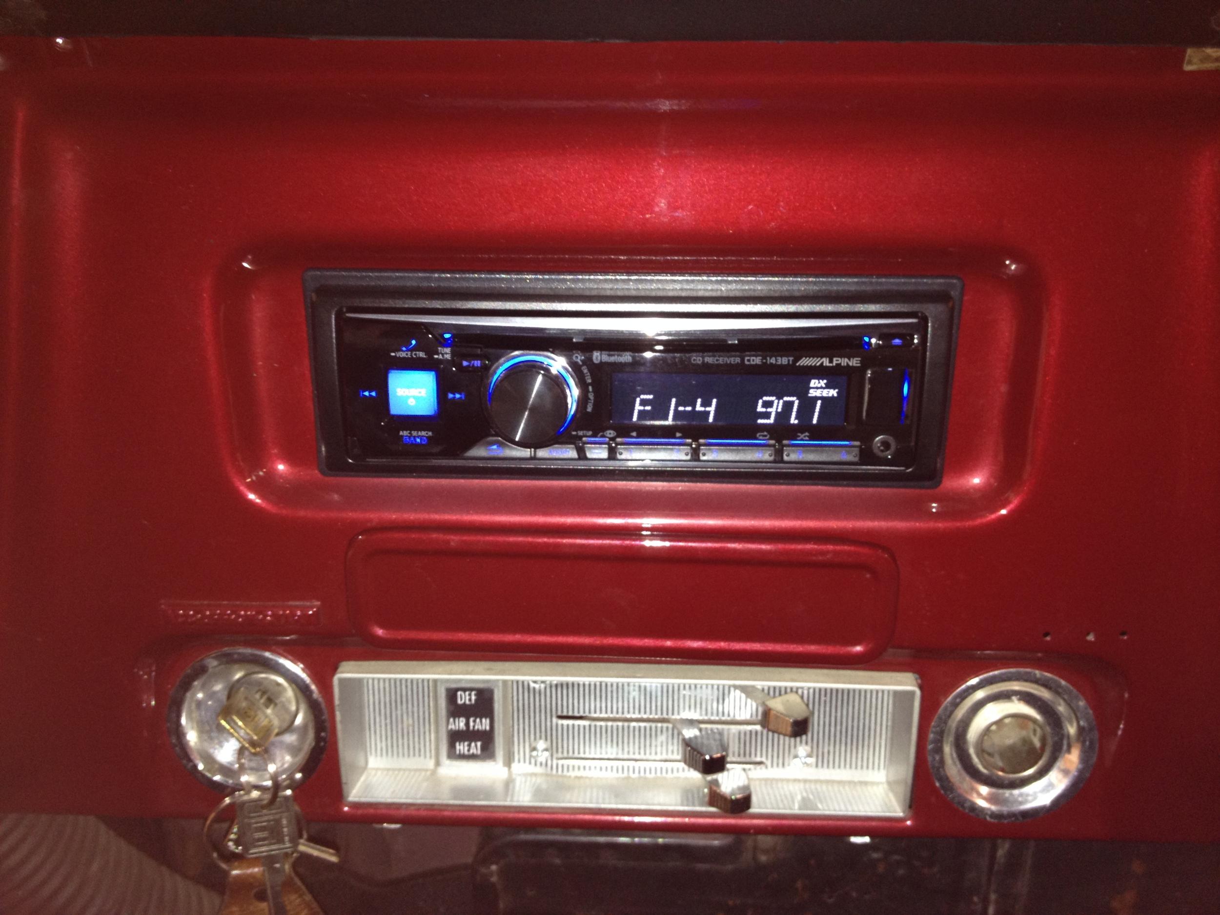1969 Chevy C10 - Alpine CD Bluetooth Receiver
