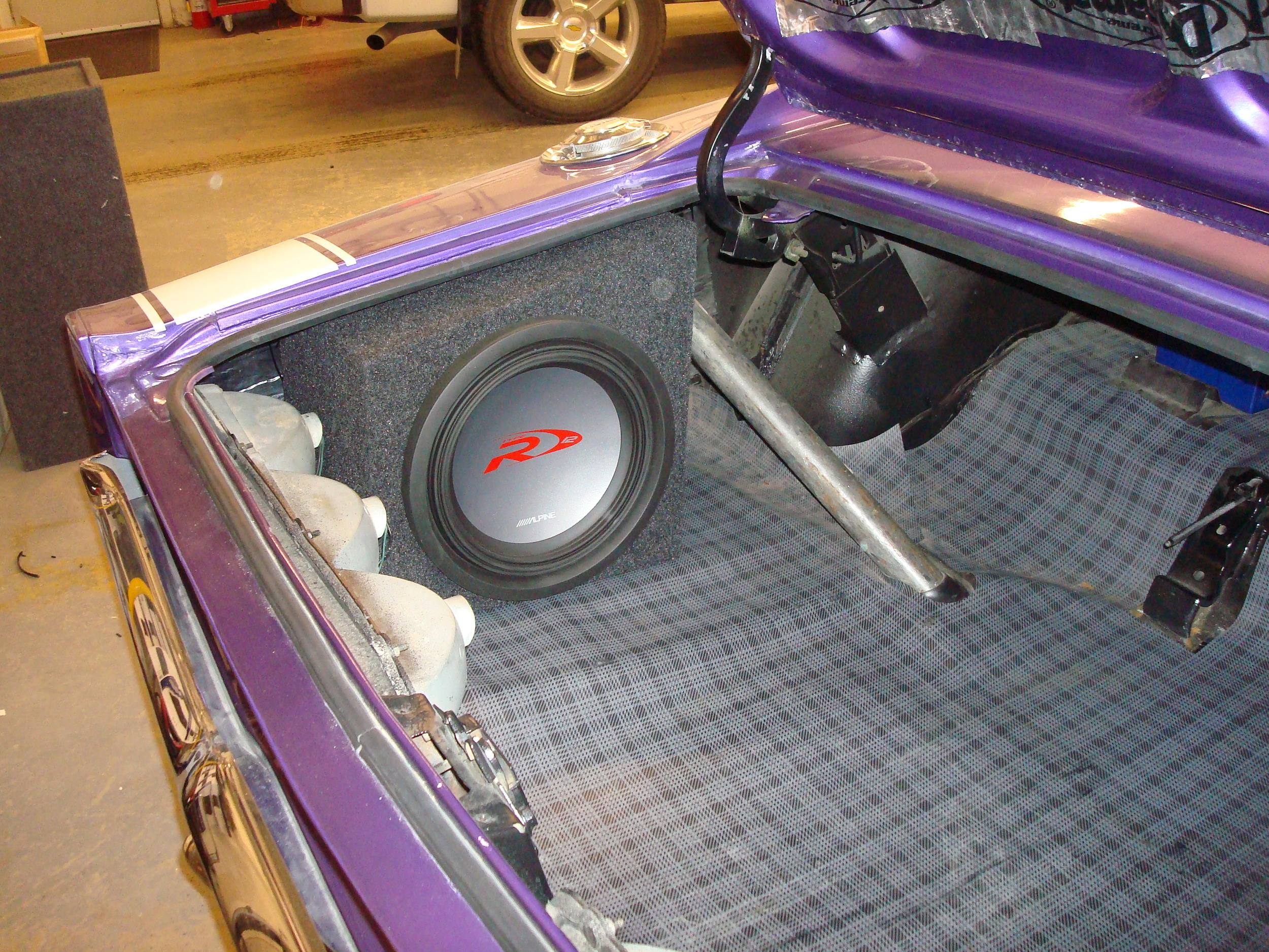 """1969 Charger - Customer Subwoofer Enclosures for 12"""" Alpine Type R Subwoofers"""