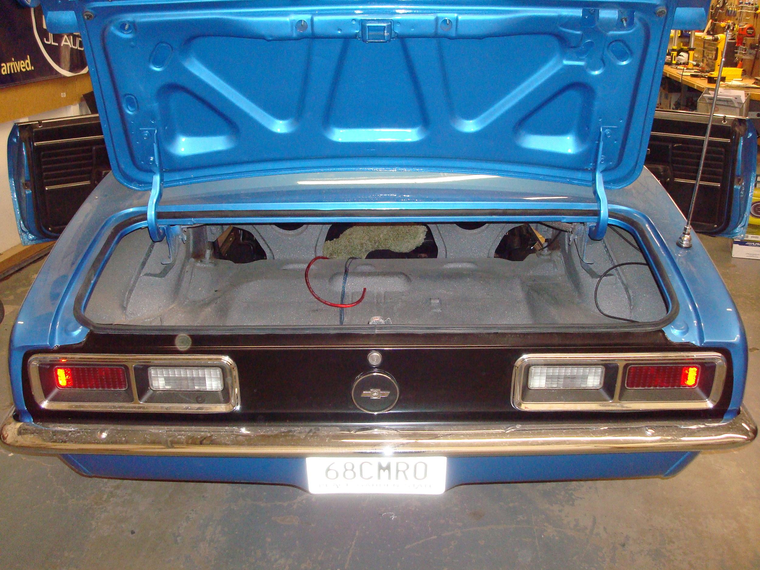 1968 Camaro - Trunk BEFORE