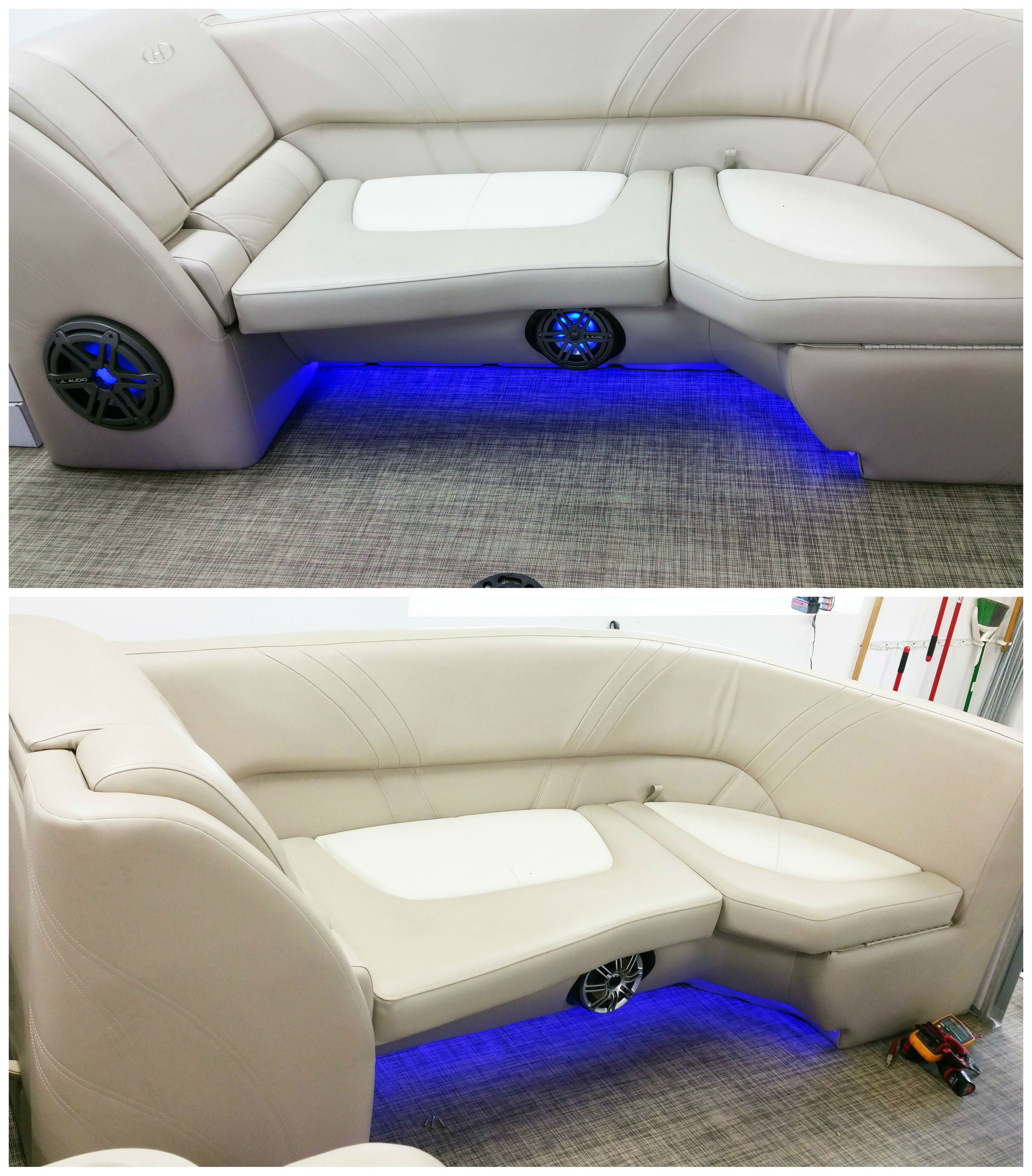 Front Zone: Installed the MX650 Speakers with LED Lighting from JL Audio & the MXIB3 Subwoofer was added.