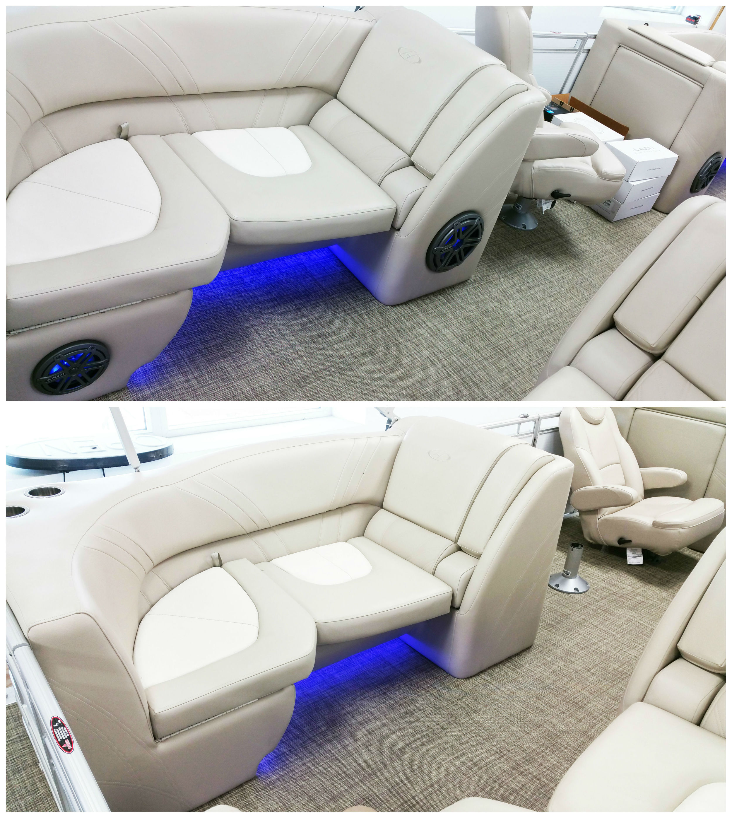 Rear Zone: Added a pair the MX650 Speakers with LED Lighting from JL Audio & another MXIB3 Subwoofer.