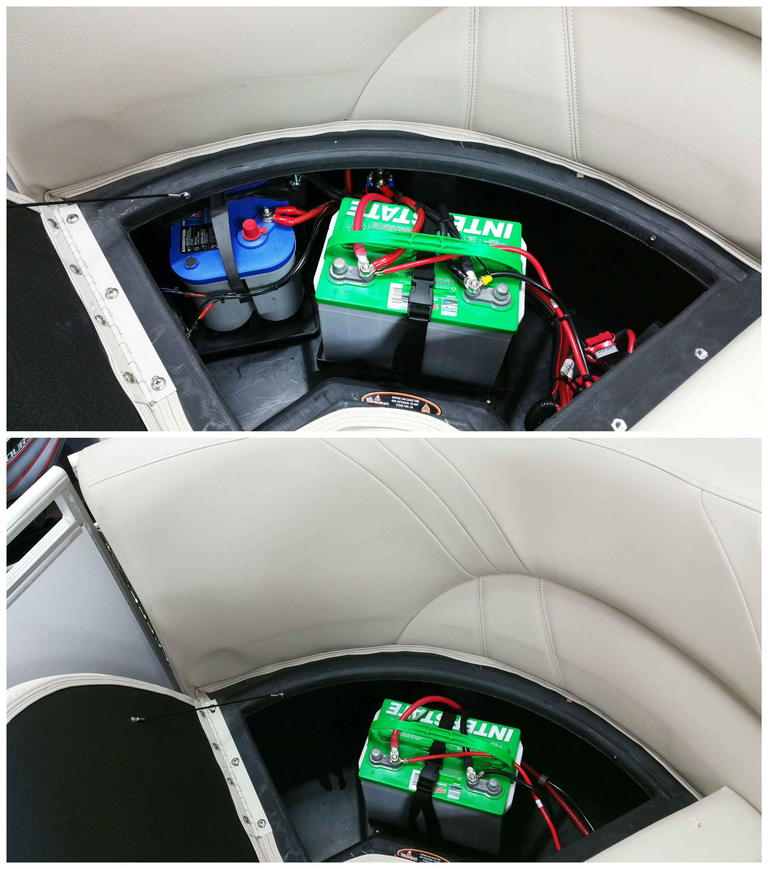 An Optima BlueTop battery was added with an isolator to play the stereo independent of the starting battery.
