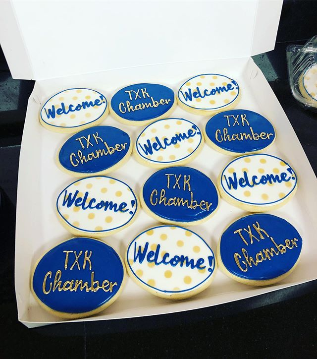 We're @txk_chamber official! And get a load of these cute cookies from @grahamslambakery that they welcomed their new members with yesterday 😍 #Texarkana #goTxk #ourtexarkana #texassmallbusiness
