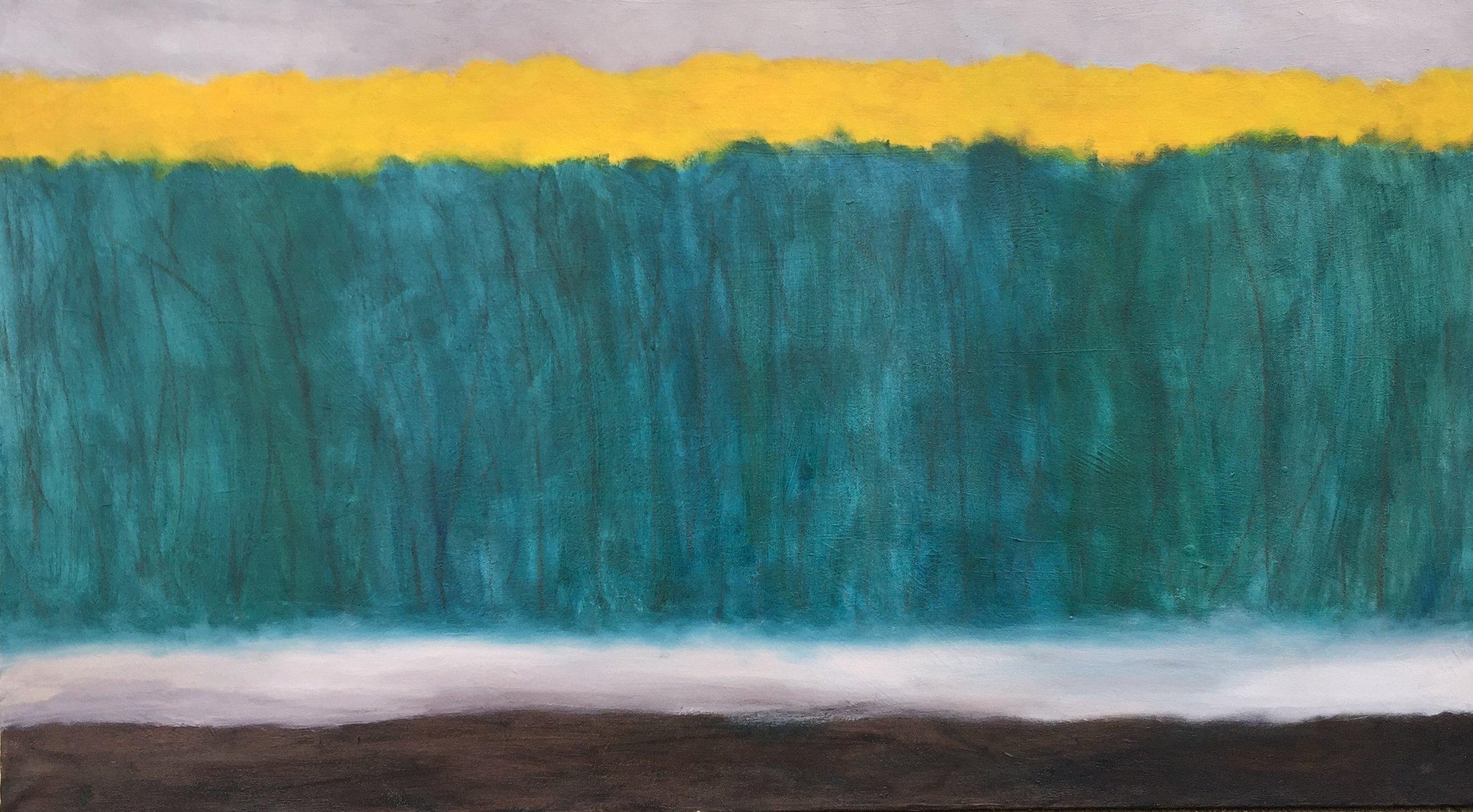 """Grove, oil on canvas, 25"""" x 37"""""""