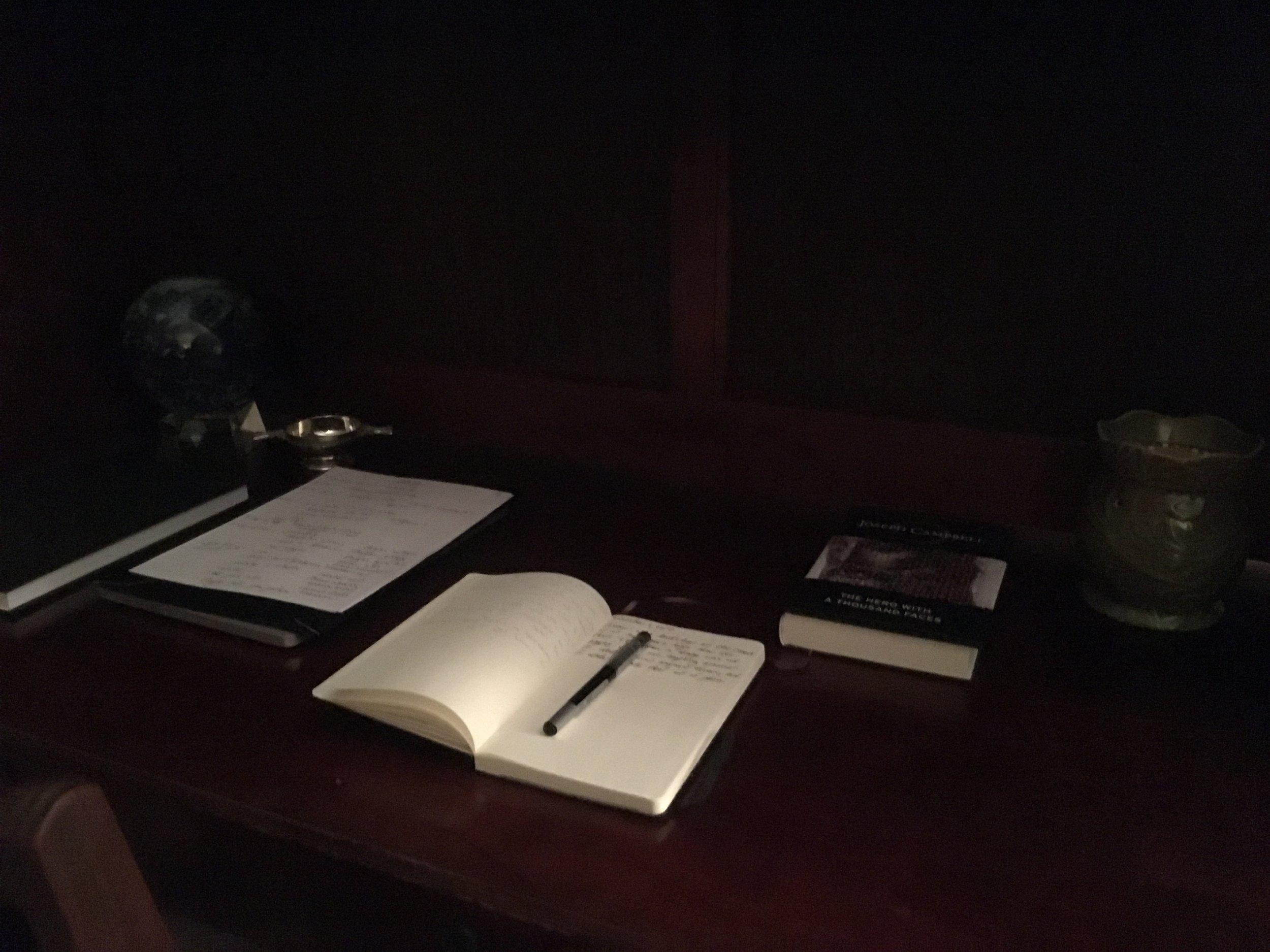 My journaling station.