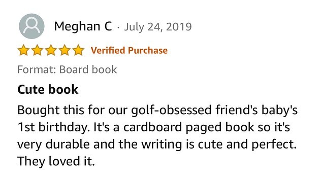 """Thank you for the ⭐️⭐️⭐️⭐️⭐️ reviews on @amazon! So glad you loved """"Your First Golf Lesson! ....Plus stay tuned...A Big Announcement is COMING SOON! #hbehrmanndesigns #yourfirstgolflesson #golf #amazon"""