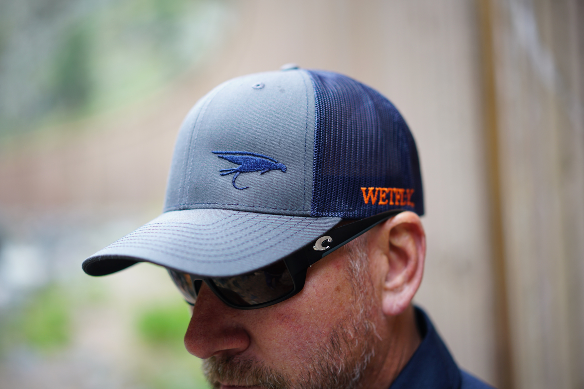 WETFLY Structured Classic Trucker Snapback Sail Fish