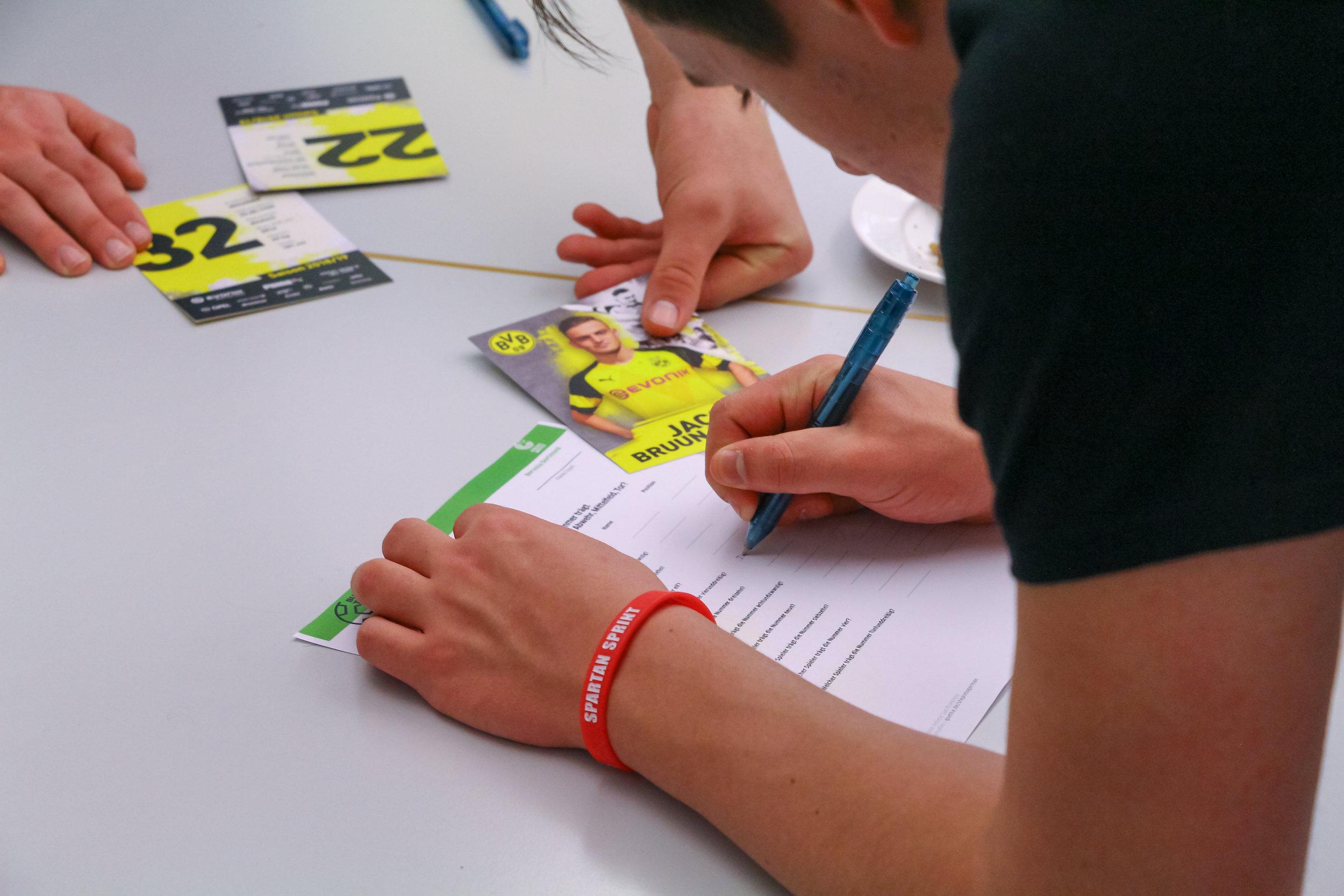 Students compete in  Bundesliga Total . Goethe-Institut, Chicago, 2019.