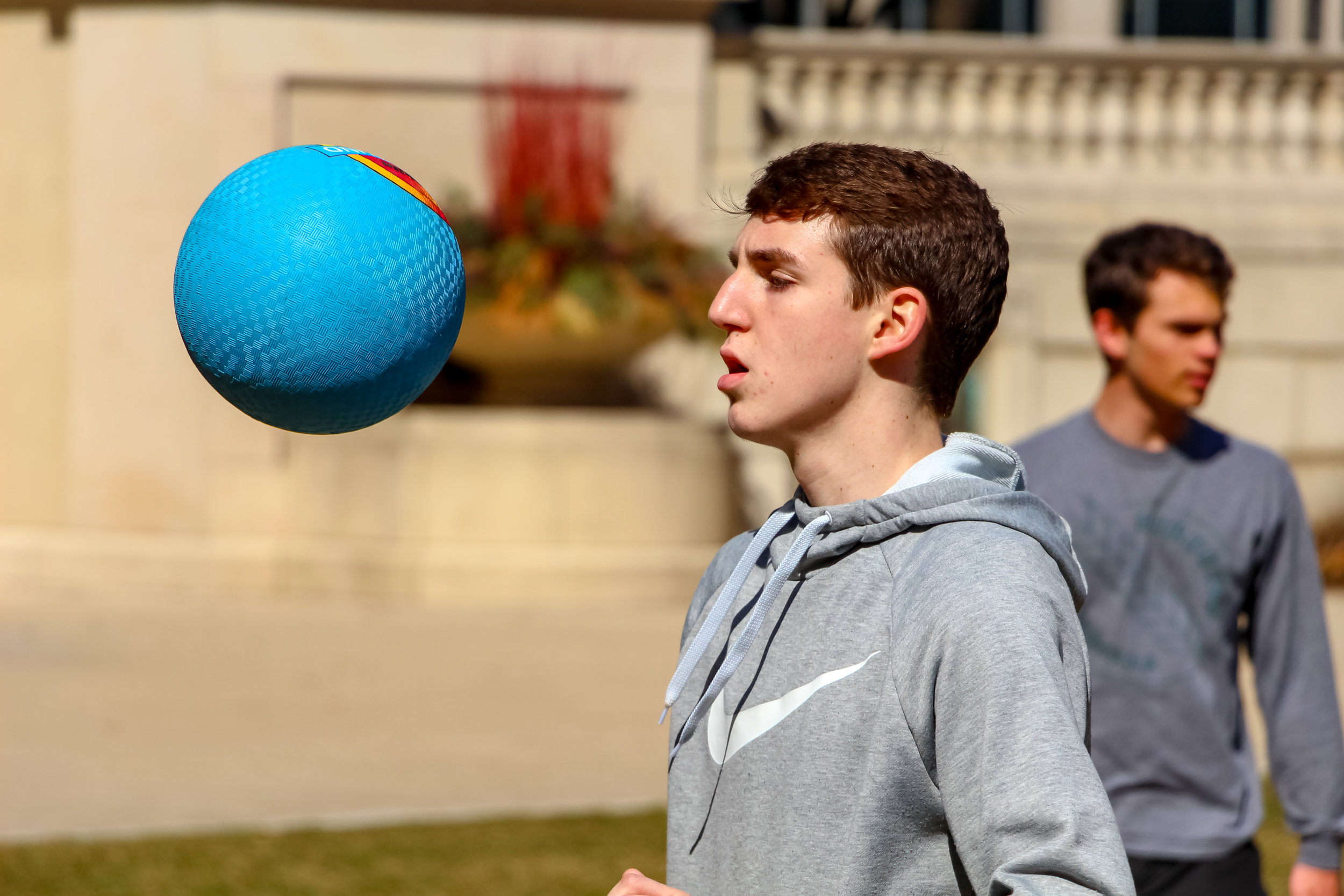Students compete in  Bundesliga Total . Millennium Park, Chicago, 2019.