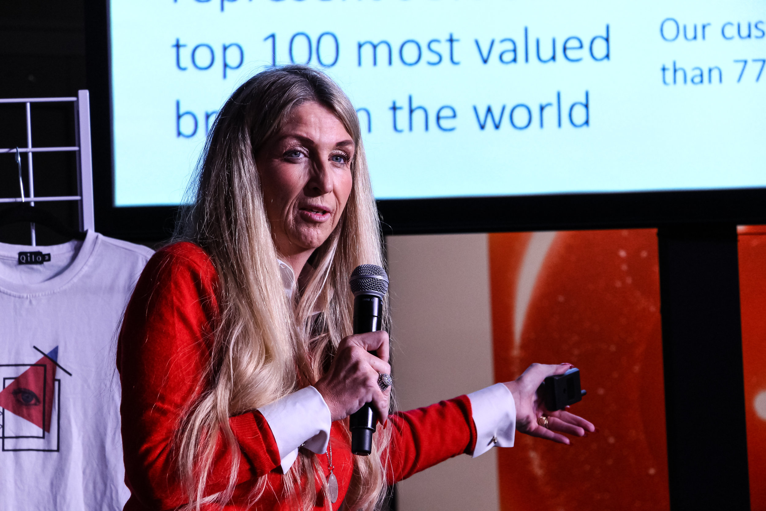 Ann Rosenberg, Sr. VP, Global Head of SAP Next-Gen, speaks at Germany Week. Daley Plaza, Chicago, 2019.