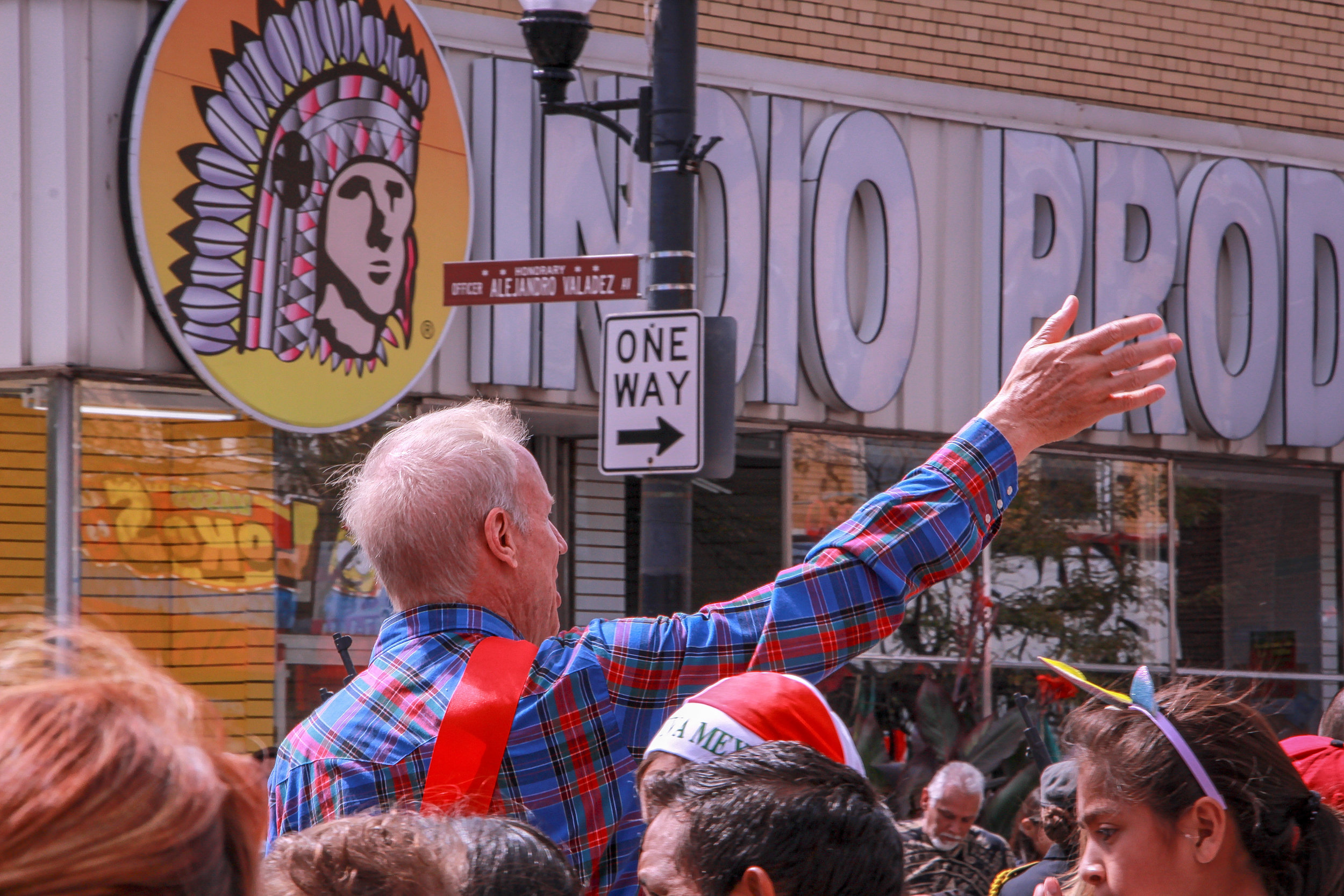 Former IL Governor Bruce Rauner at the Mexican Independence Day Parade. Little Village, Chicago, 2018.