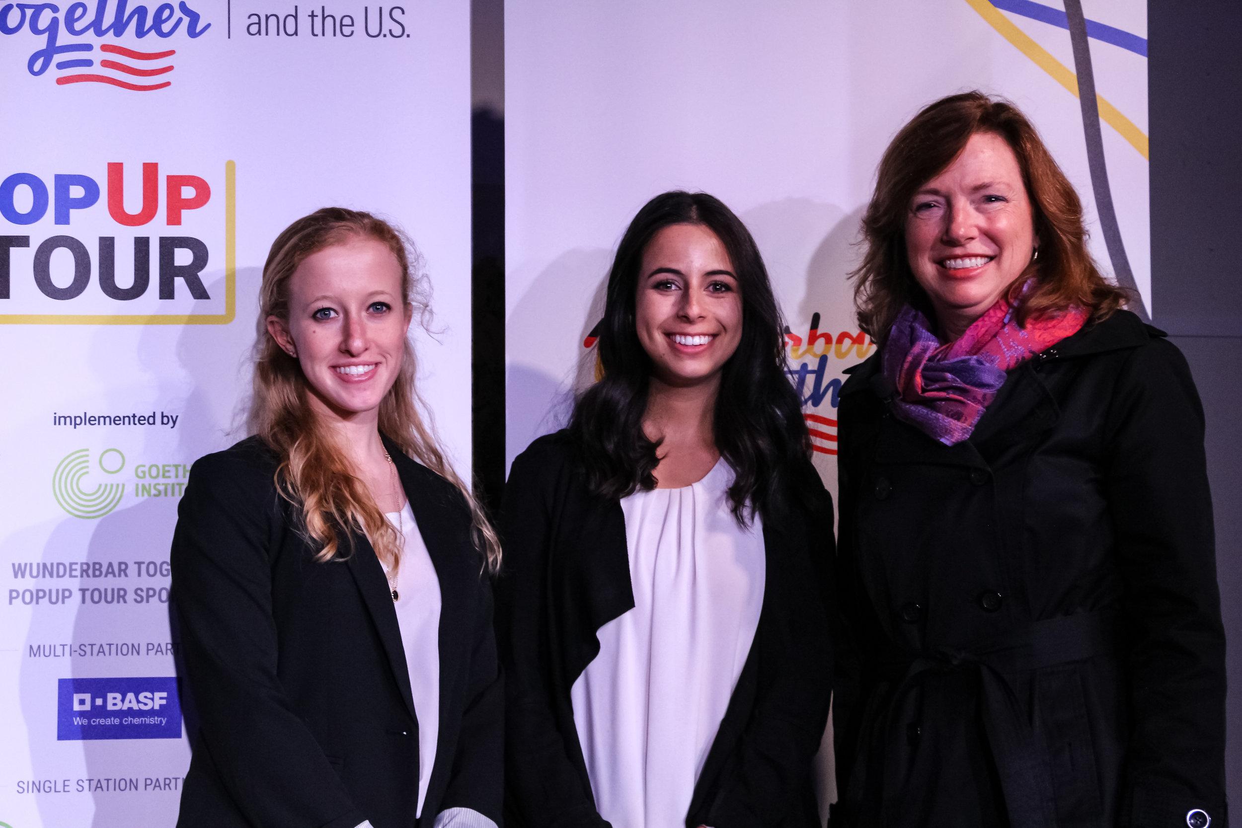 Siemens USA CEO  Barbara Humpton  with company recruits.