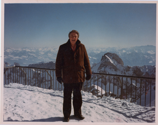 Daddy in Switzerland