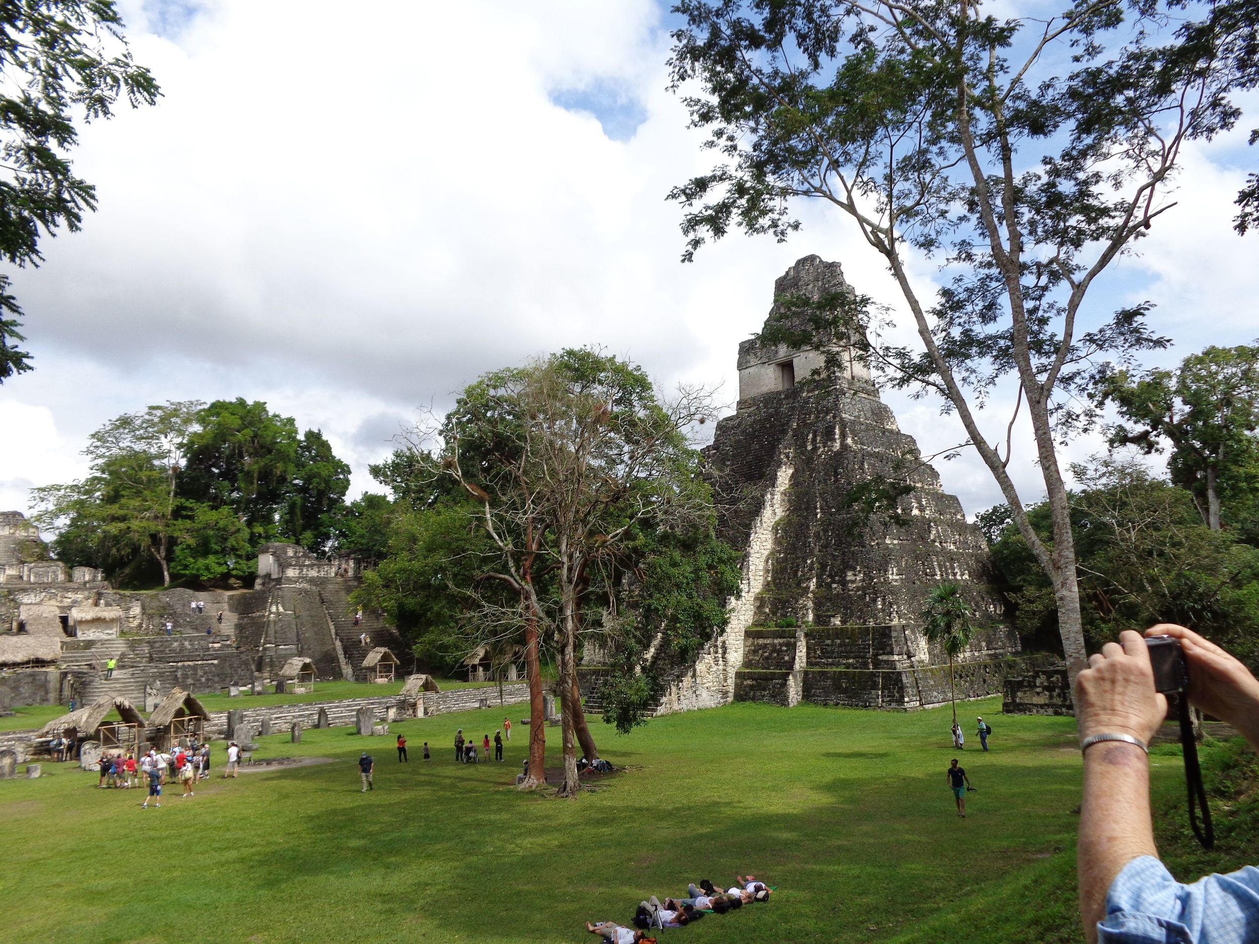 The plaza at Tikal National Park, Belize.