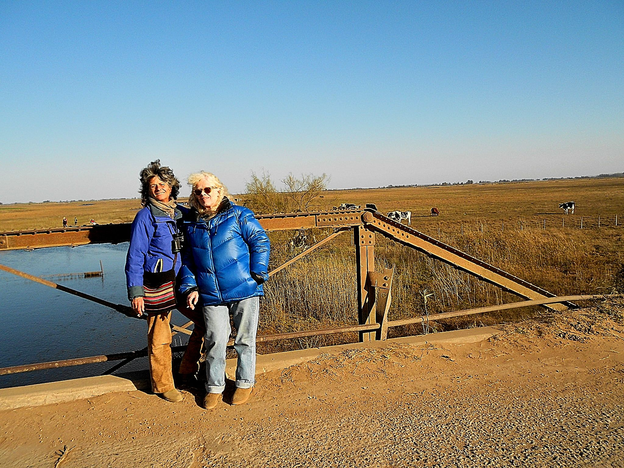 Two sisters, twice-exiled, Alex and Vicky, Argentina.