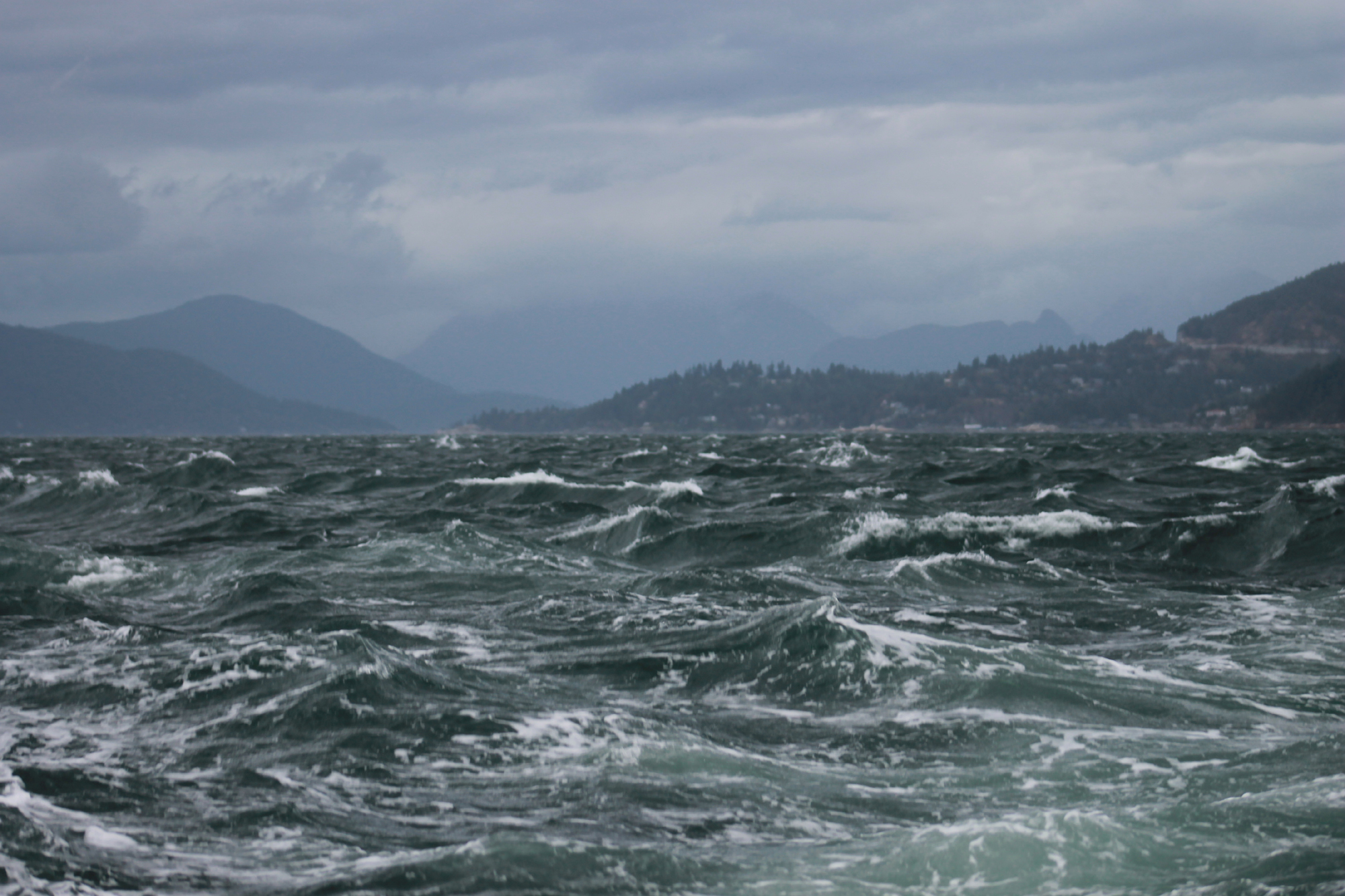 A stormy day in Vancouver harbor. Photo by  Todd Martin .