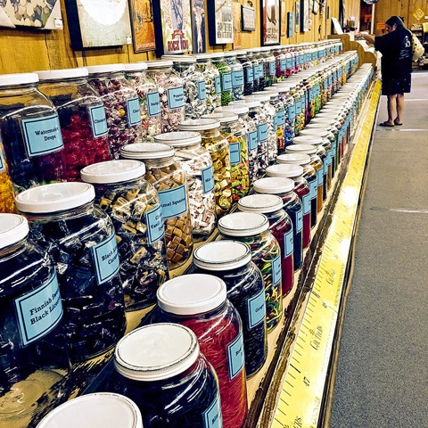 """Chutter's is Guinness World Record-certified as """"the world's longest candy counter"""" (112 feet), Littleton, New Hampshire."""
