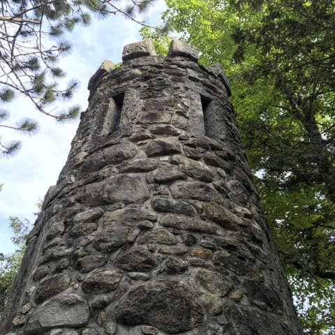 """An early resident of Waterville Valley said """"it has everything but a ruin"""" ––so he built one, New Hampshire."""
