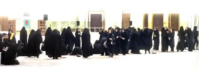 Line of women. Photo by Paul Ross