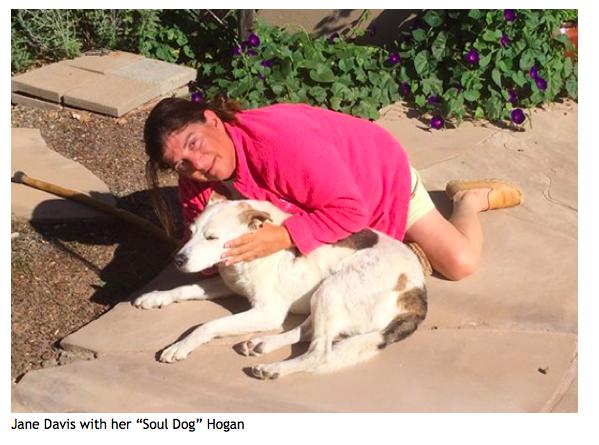 Jane Davis with Hogan