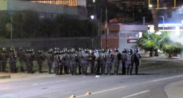 Military police in Honduras.
