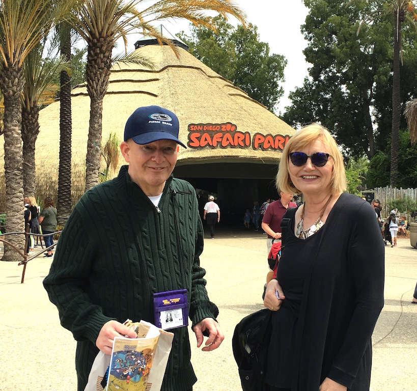 Kristine and Bob at the San Diego Zoo
