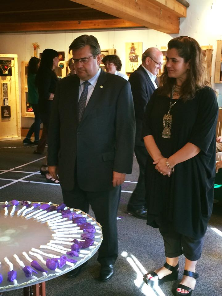 Carolina and Montreal Mayor Denis Coderre at the vernissage.