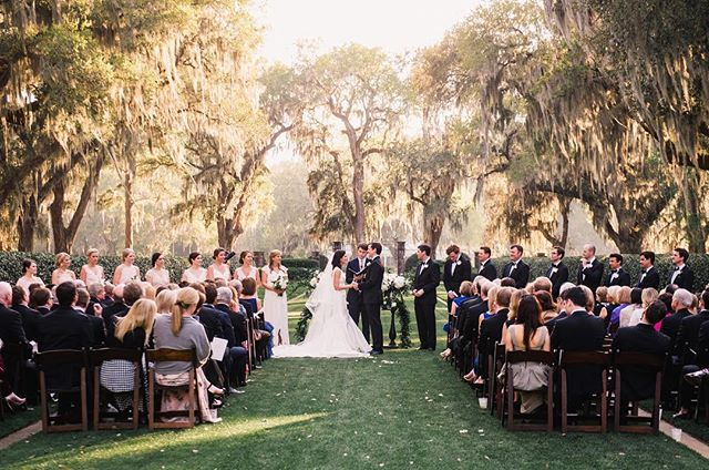 Perfect wedding at the Ford Plantation in Savannah this past weekend thanks to @ccarterevents