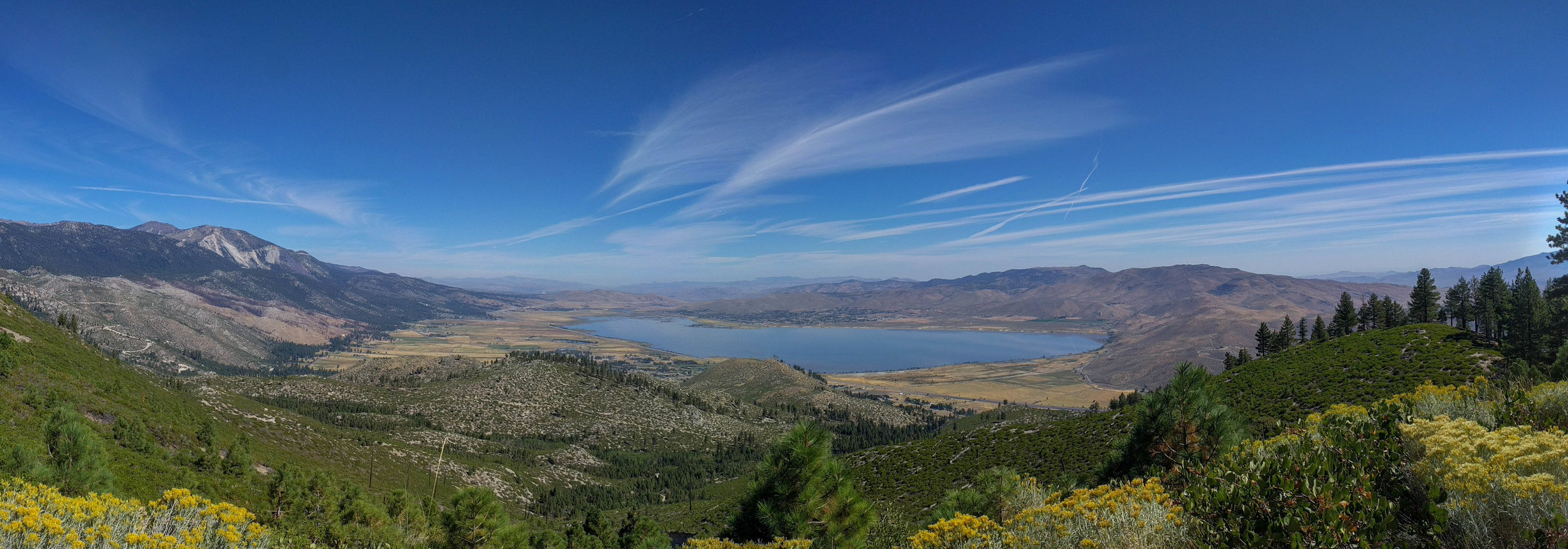 Washoe Valley view from Franktown Creek Rd, CAR (NV) Sep-2018