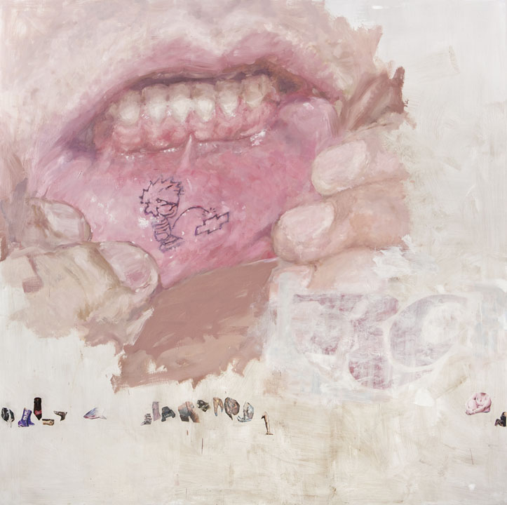 """Oil, acrylic, colored pencil on panel 72"""" x 72"""" 2011"""