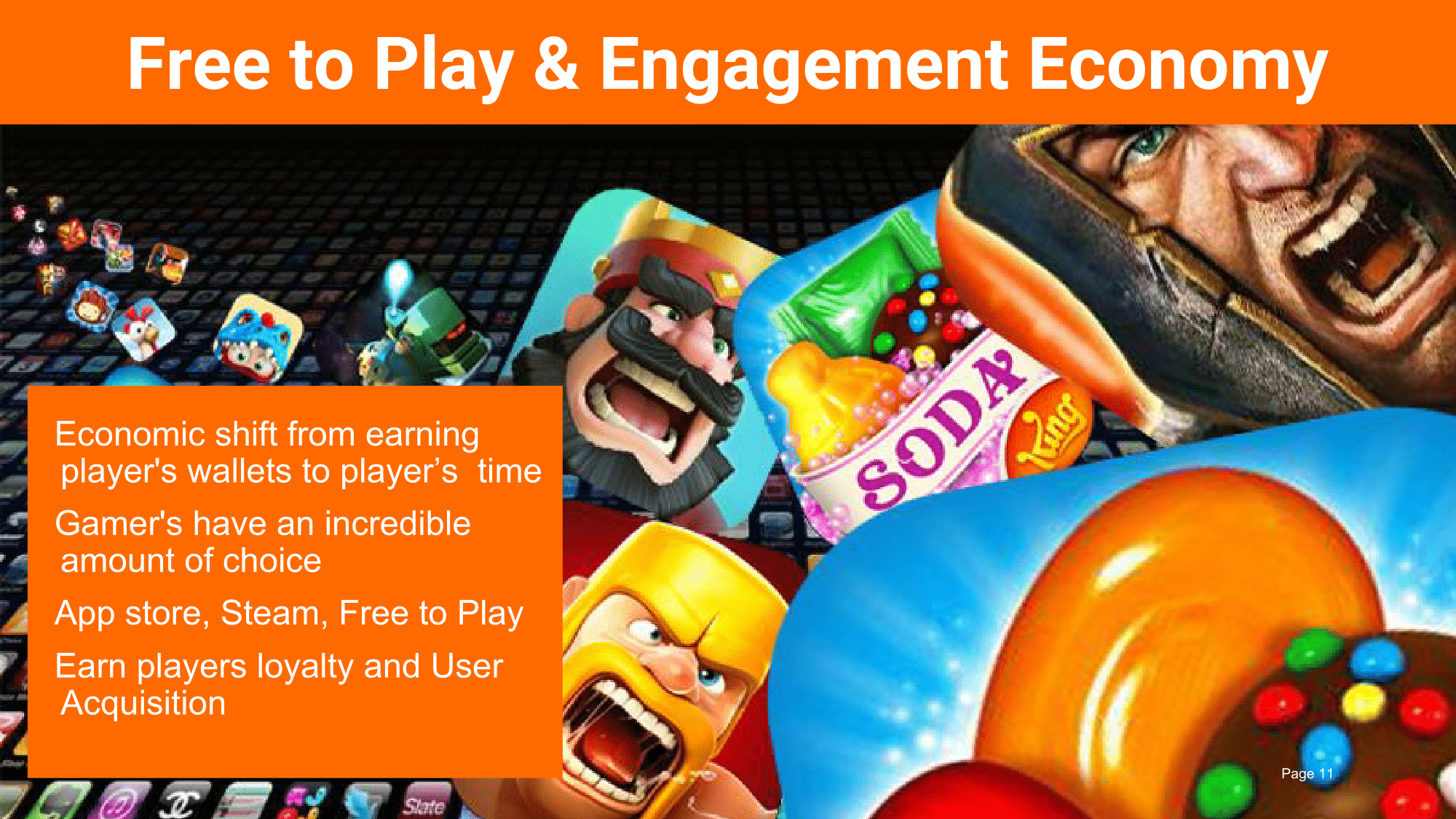 More than anything, the Free to Play model has transformed how games are experienced as games and products are making an economic shift towards an engagement economy.  Developers now compete over earning a player's time rather than a $60 price tag and must compete against a sea of other titles as players have an incredible amount of choice.
