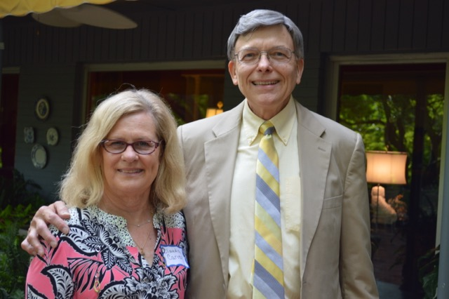 Claudia Carroll, event coordinator, and Lee Kohlenberg, interim Director of Music and Organist-Choirmaster for FPC