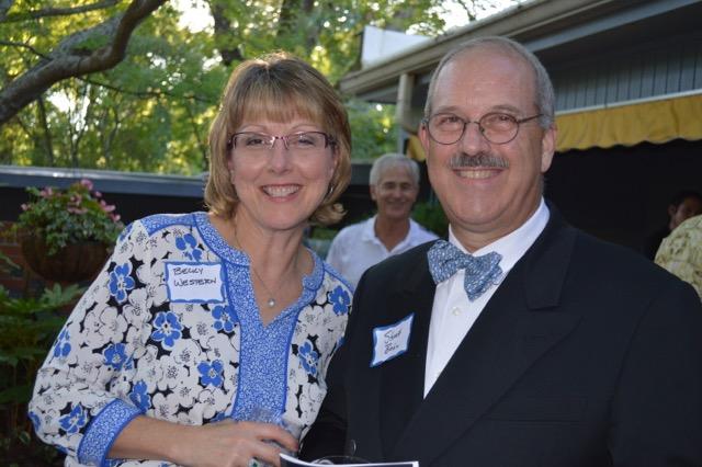 Becky Western and Rev. Stuart Baskin, pastor at FPC