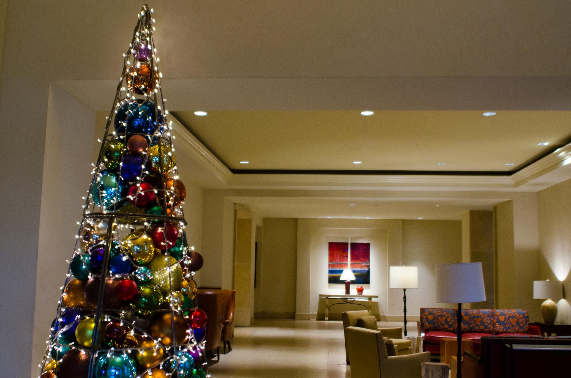 Christmas tree at the JW Marriott Resort, San Antonio