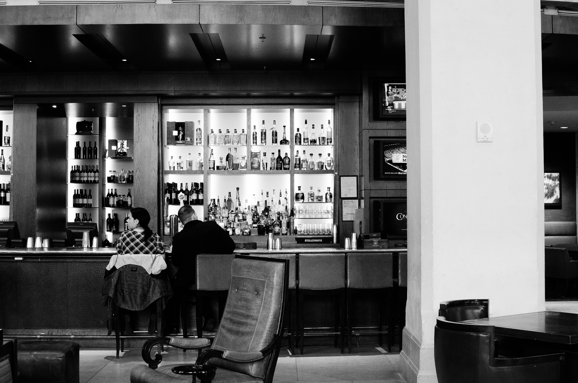 Week starts here, bar at the JW Marriott Resort