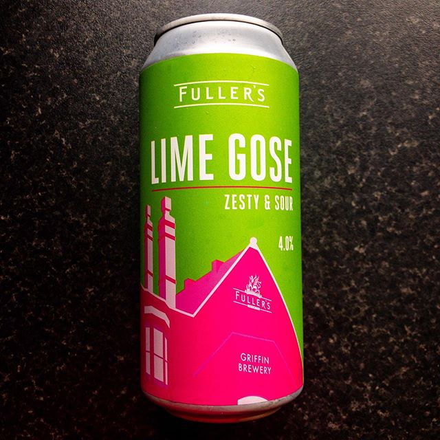 Pretty can, hopefully the beers tastes as good as it looks • • • #fullersbrewery #griffinbrewery #limegose #zesty #sour #line #gose #beer #ale #drink #waitrose #romsey #drink #tangy #collaboration #fridaybeer