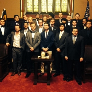 Phi Kappa Sigma gathered to commemorate their most recent new member class.