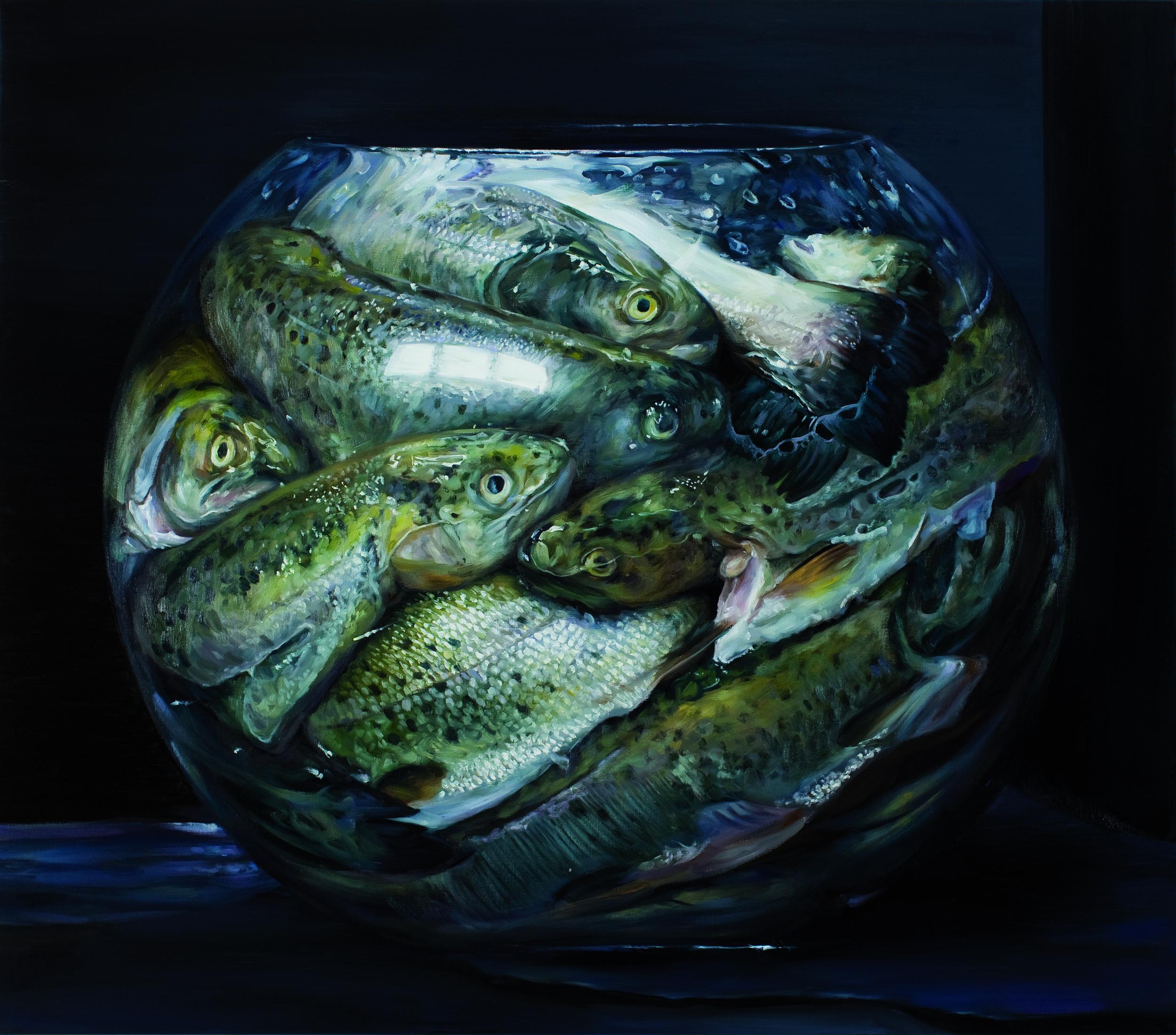 FISH TANK -  oil on linen