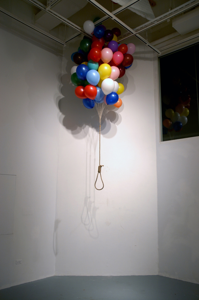 UNTITLED - ballons, rope
