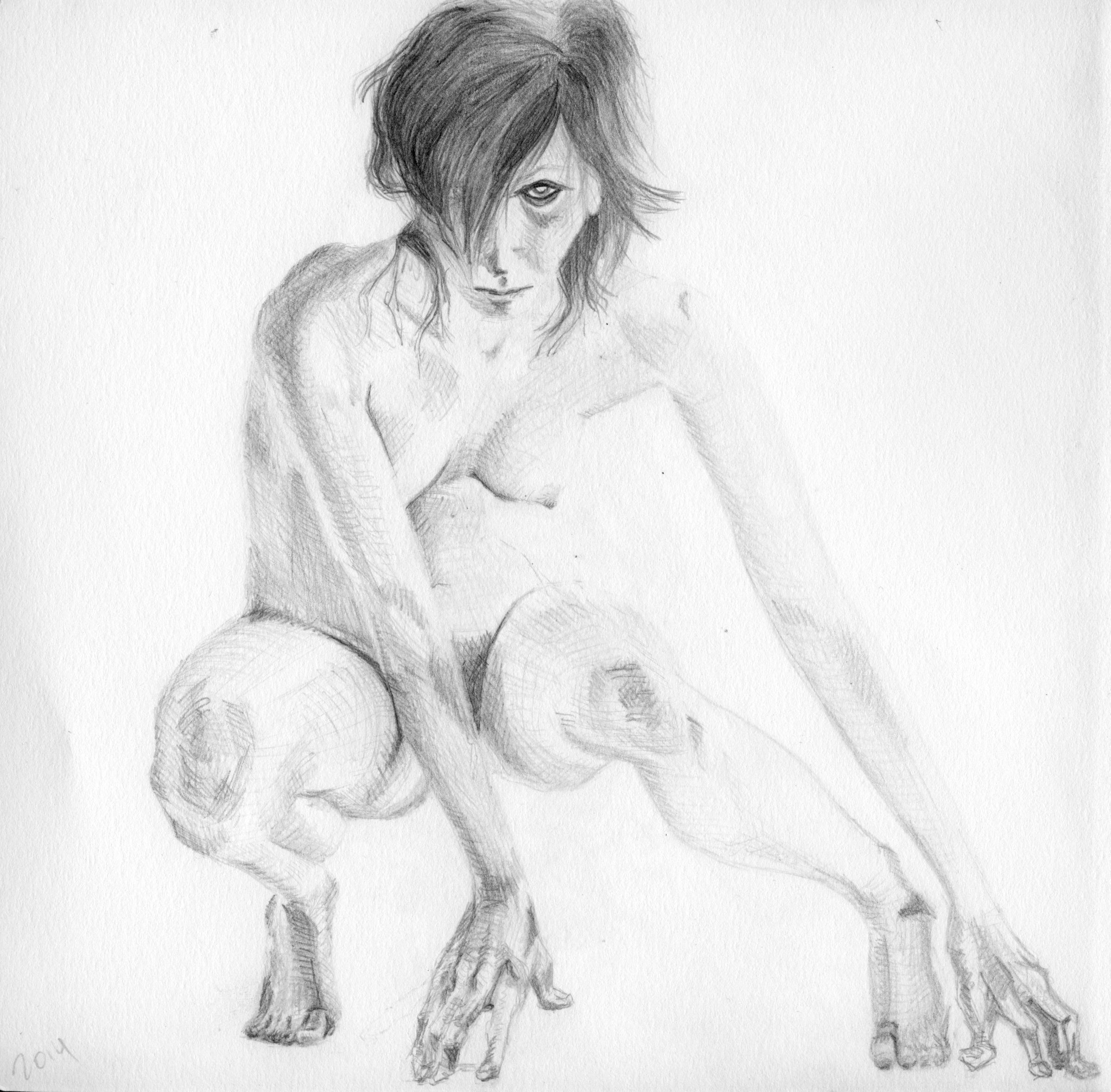 """graphite, 7"""" x 7"""", 2014."""