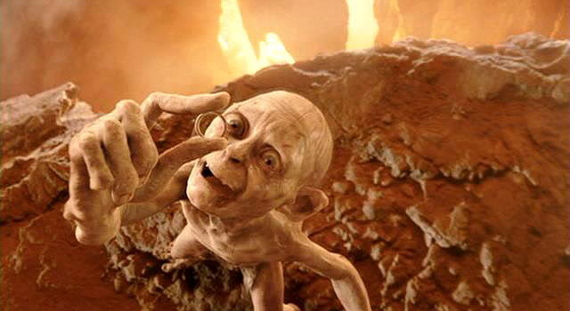 """If Gollum had just sent """"Precious"""" to Gold Refiners for recycling, things might have turned out a little differently. Credit: New Line Cinema."""