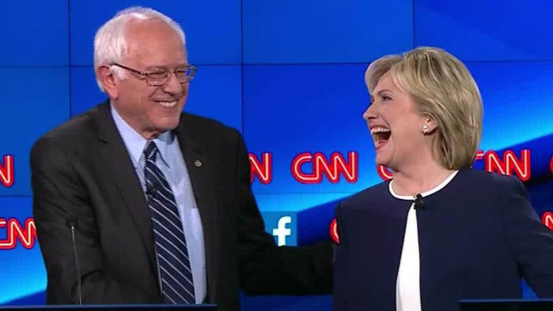 Would Gold Prices Rise More Under President Clinton or President Sanders? Image Courtesy of CNN.