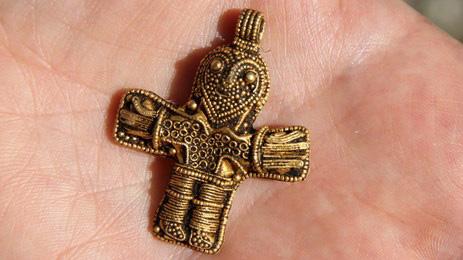 "The 1100 year old ""Christ from Aunslev"" courtesy of Vikingemuseet Ladby."