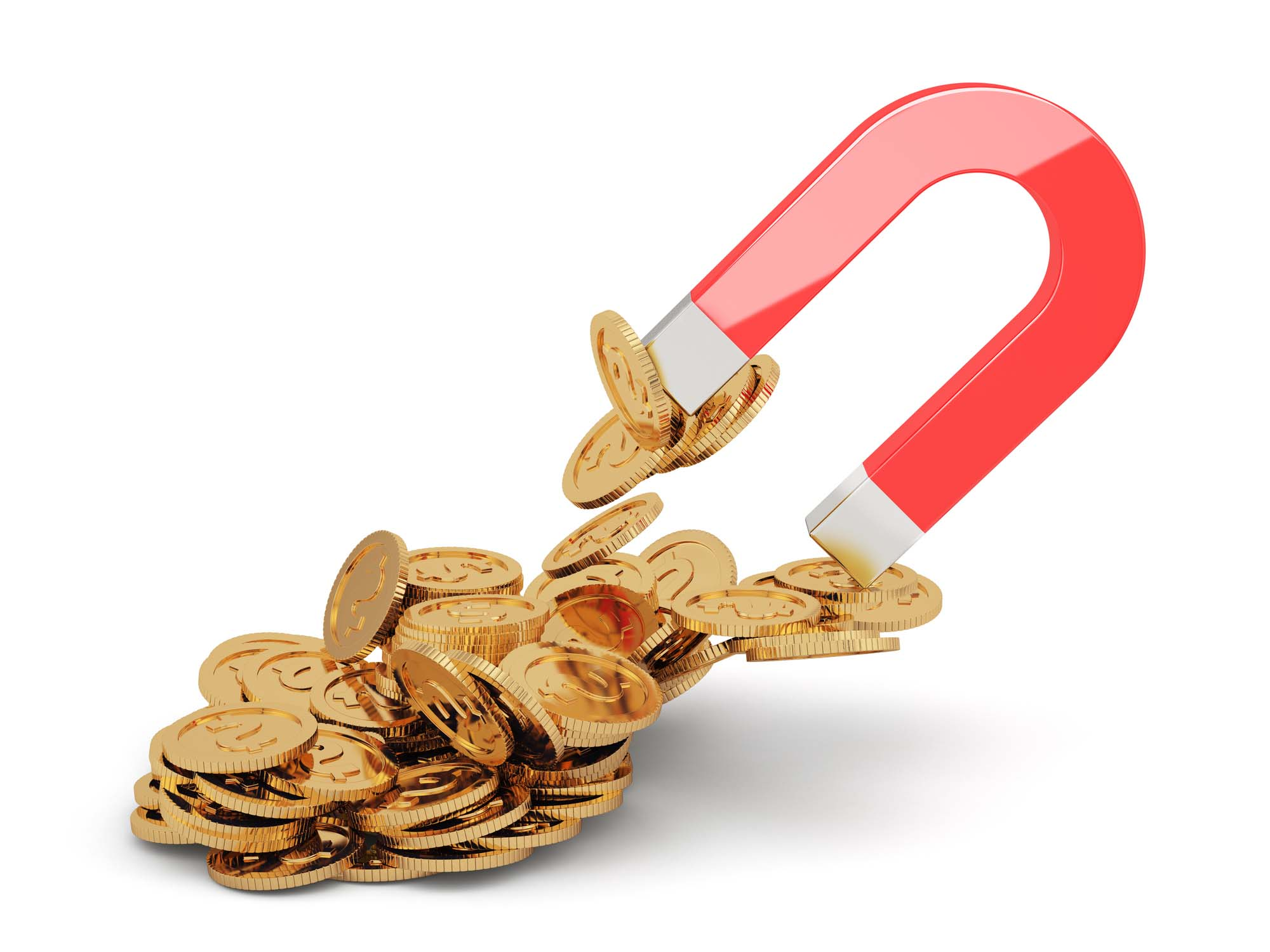 """Guess what? If your """"gold"""" coins are attracted to a magnet, they're not pure gold. Image Credit: DenisKot/iStock."""