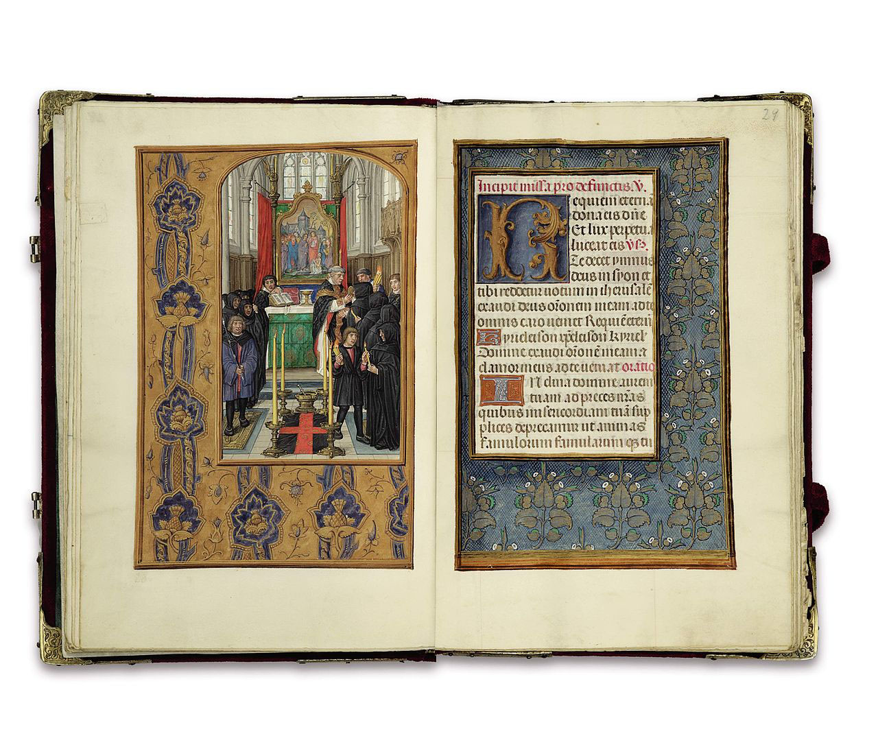 As beautiful as they are, the illustrations inside the Rothschild Prayerbook just use gold leaf. Credit: Wikimedia Commons Public Domain.