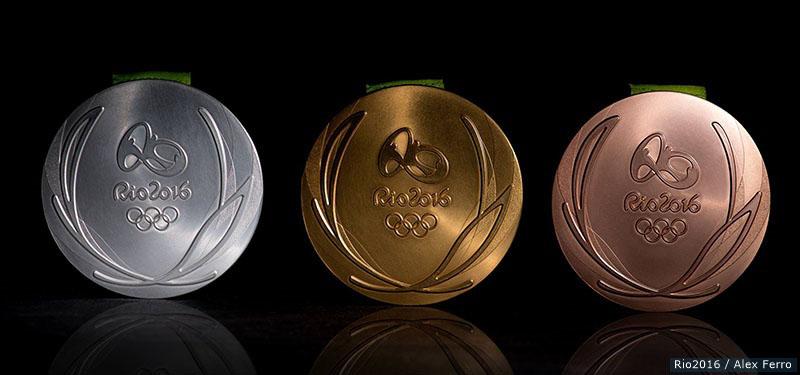The Rio 2016 Silver, Gold and Bronze medals. Credit: Rio2016/Alex Ferro.