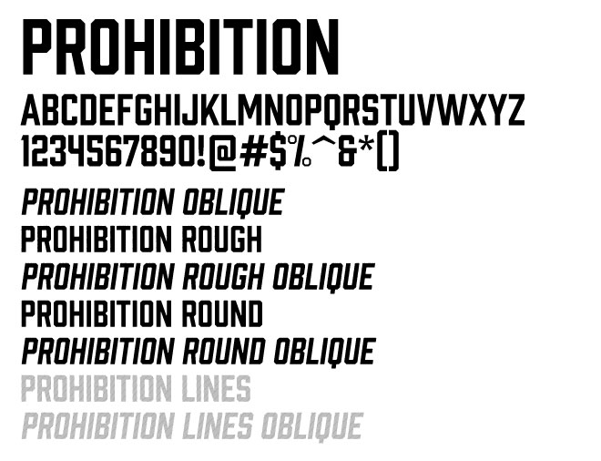 Image of Prohibition Font