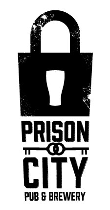 Prison City Logo with Black Lock and Keys