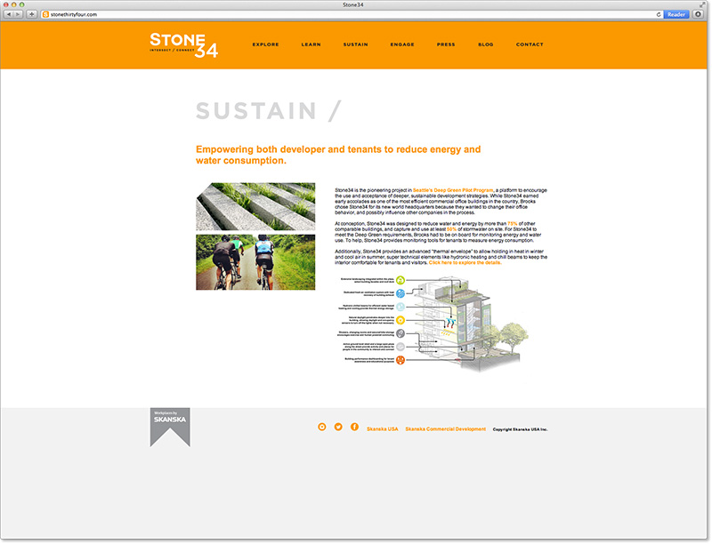 Website subpage